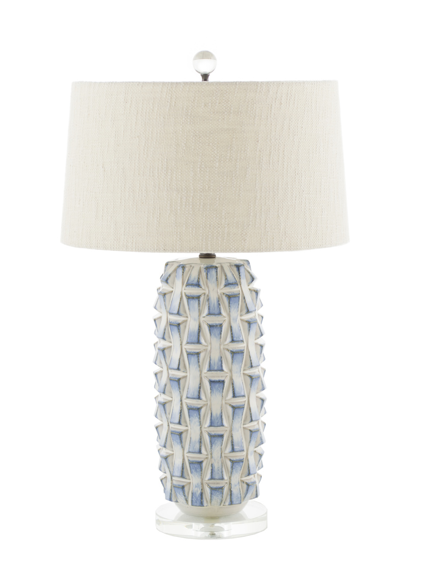 Blue/White Ceramic Lamp