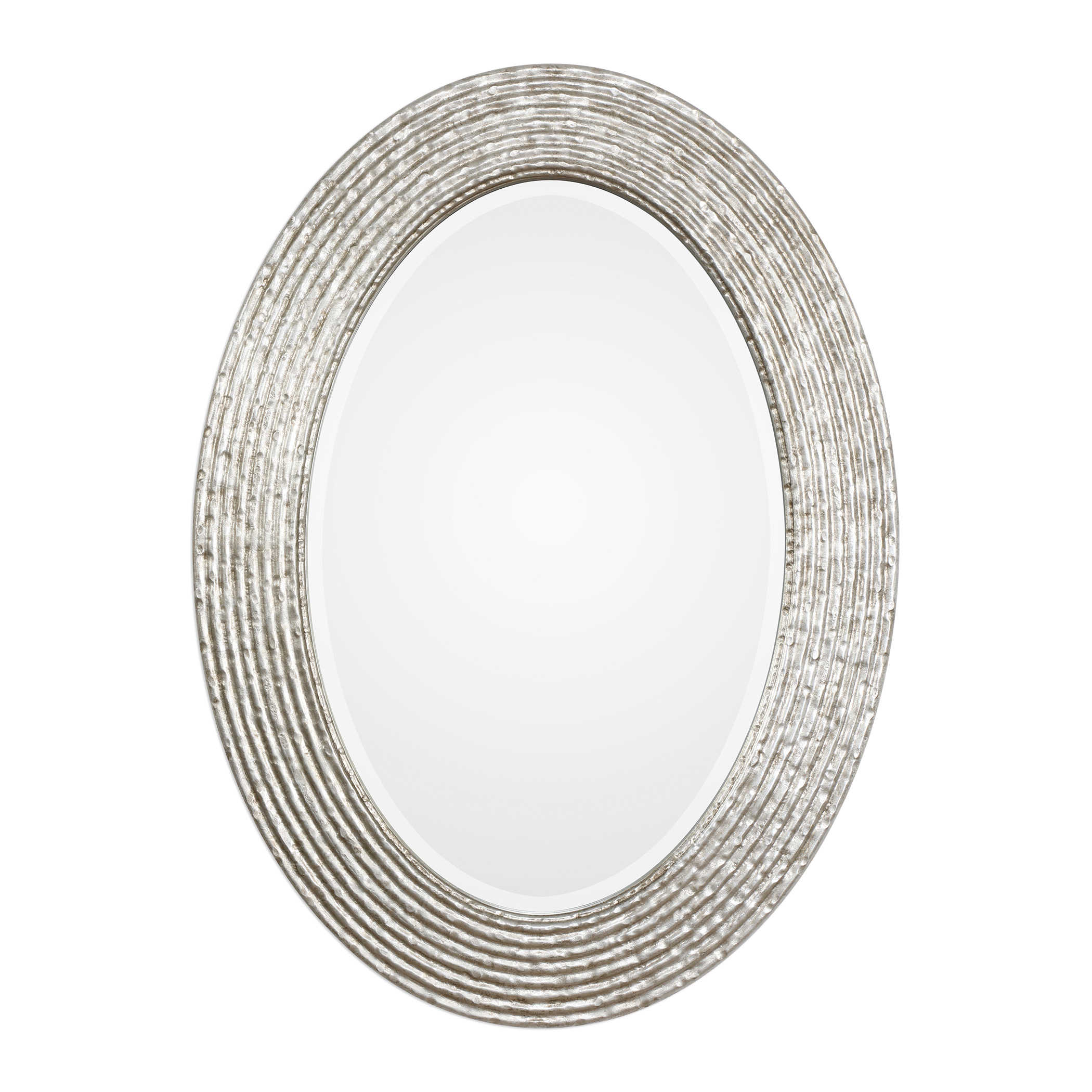Burnished Silver Oval Mirror-$278.00