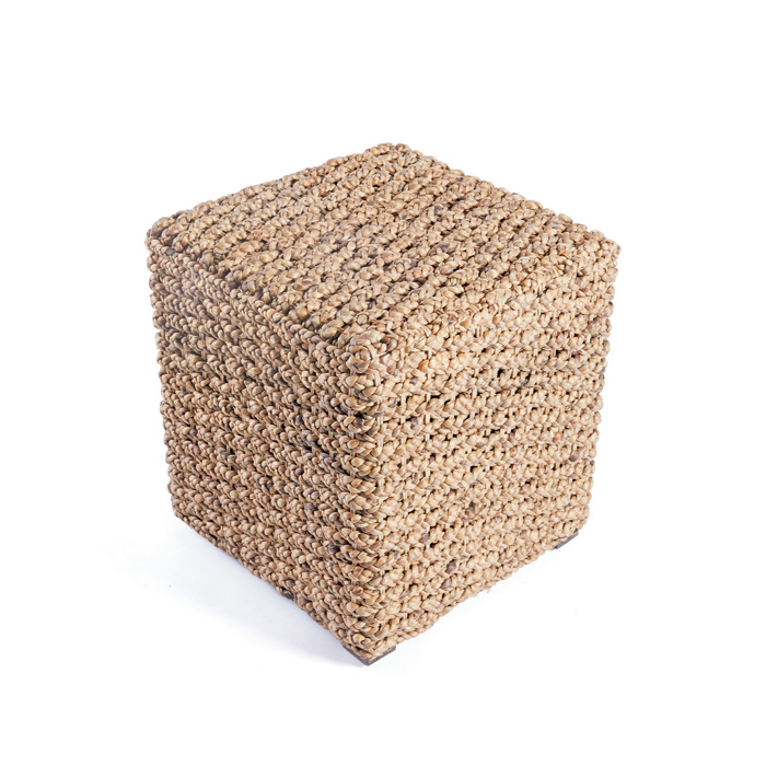 Woven Square Stool-$225.00