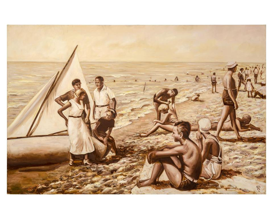 "Renaud's ""Cannes Beach Scene"""