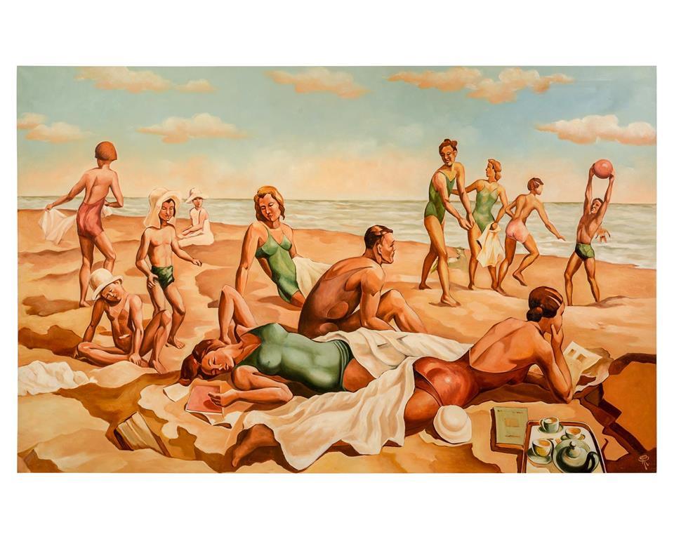 "Renaud's ""Beach Scene I"""