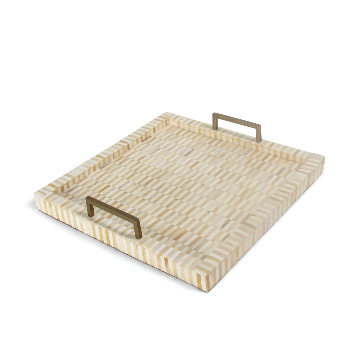 Bone and Brass Square Tray-$229.00