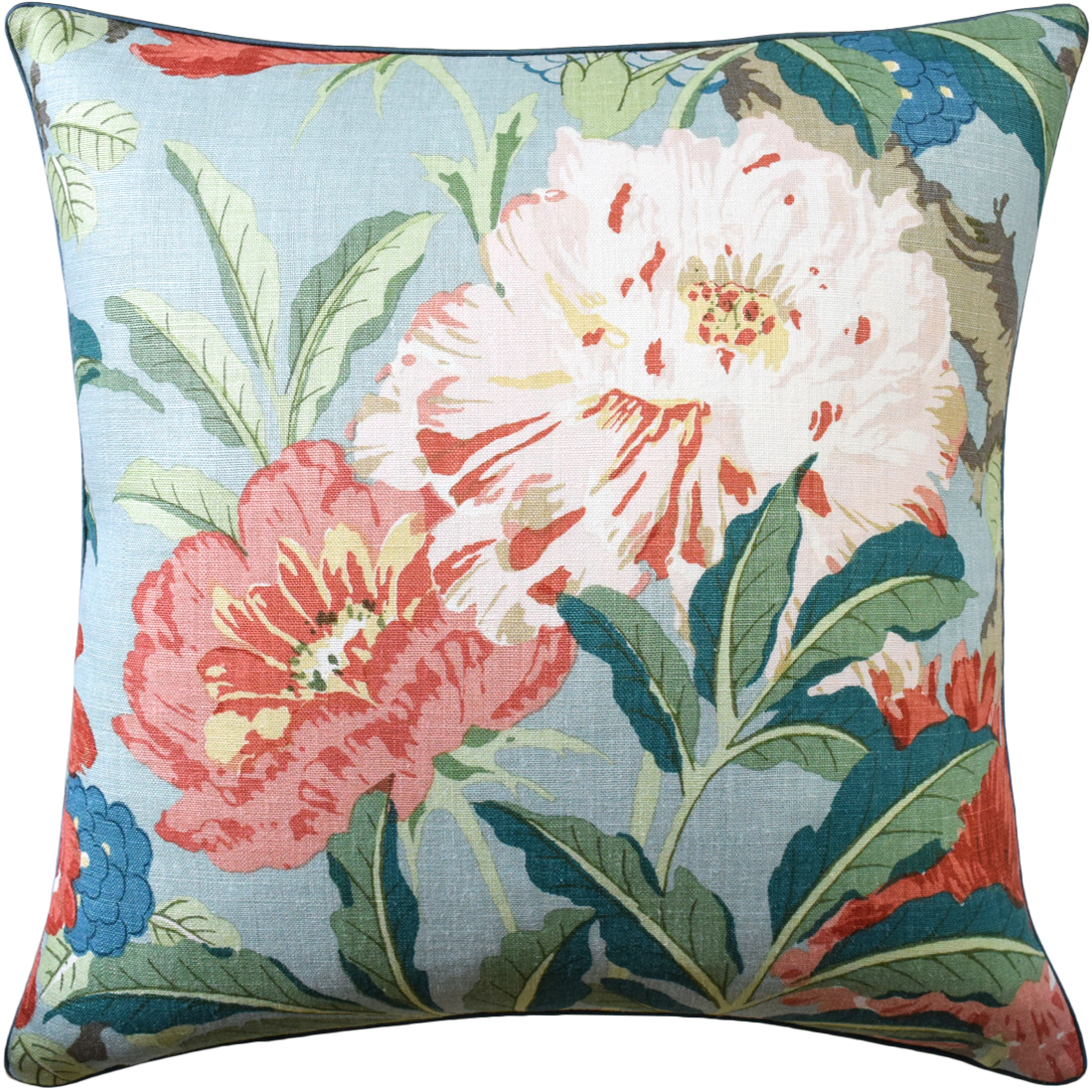Enchanted Garden Aqua Pillow