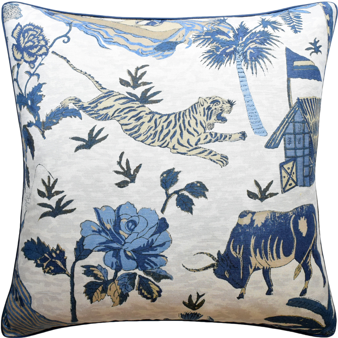 Tiger Reserve Navy Pillow