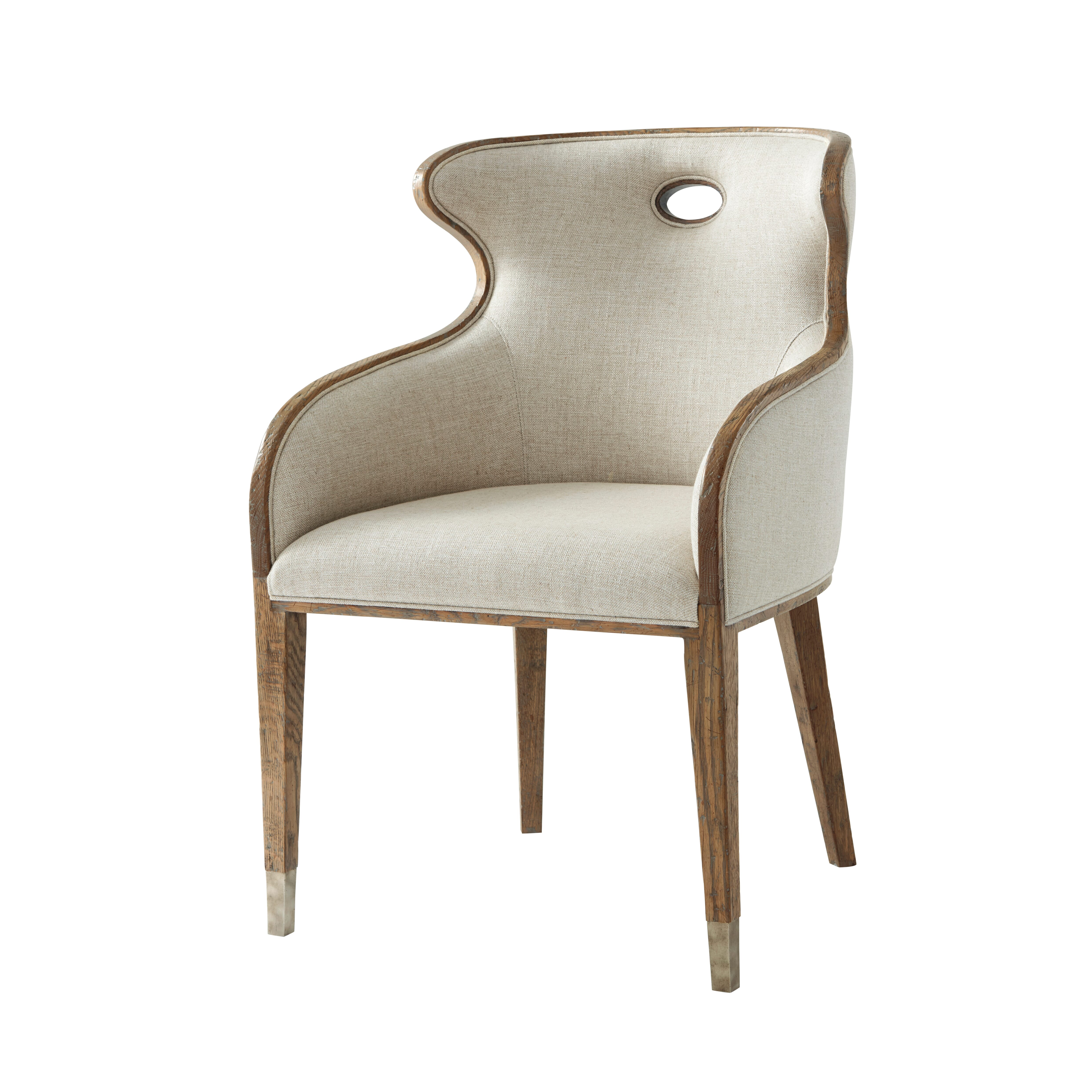 Scoop Back Upholstered Chair-$1,185.00