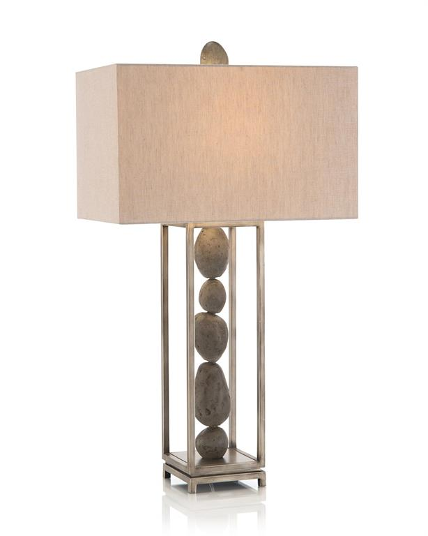 Stacked River Rock Table Lamp-$648.00
