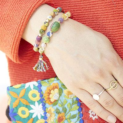 Kantha Sonnet Bracelet-$14.00