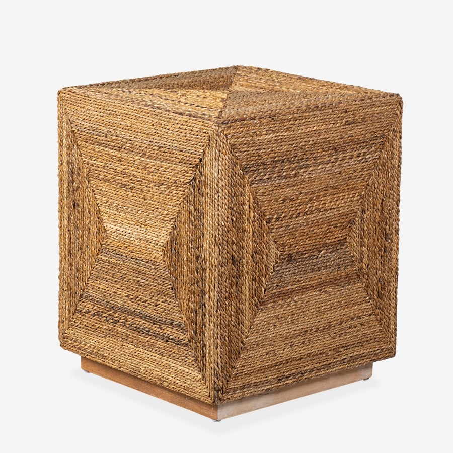 Braided Seagrass Side Table
