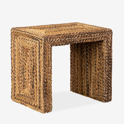 Braided Seagrass Side Table-$275.00