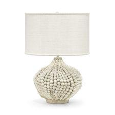 Wood Beads & Abaca Lamp