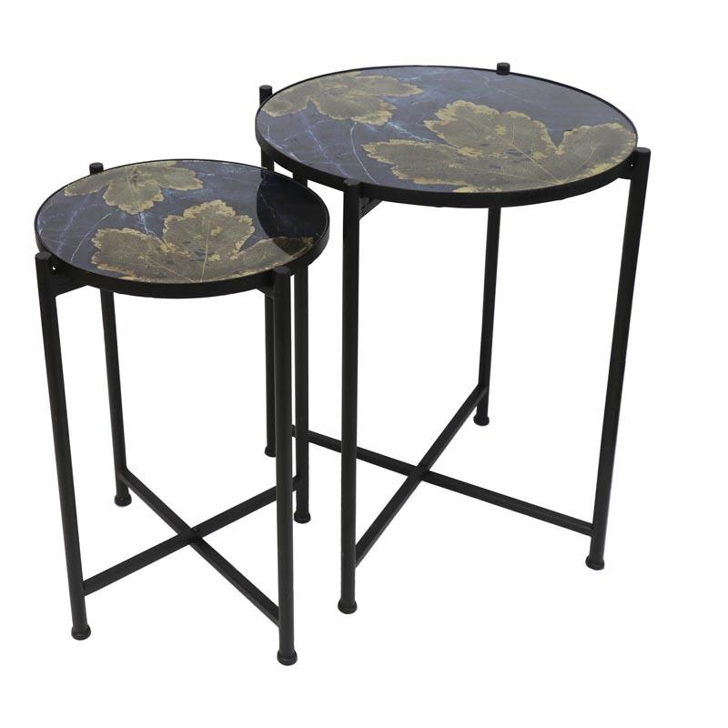 Trinadad Metal Tables w/Folding Base-Lg. $165.00 Sm. $125.00