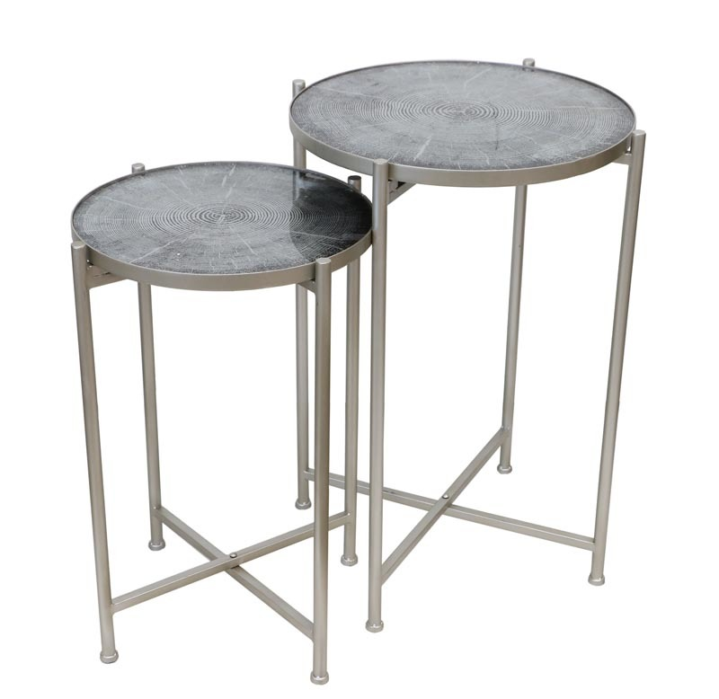 De Vinci Metal Tables w/Folding Base