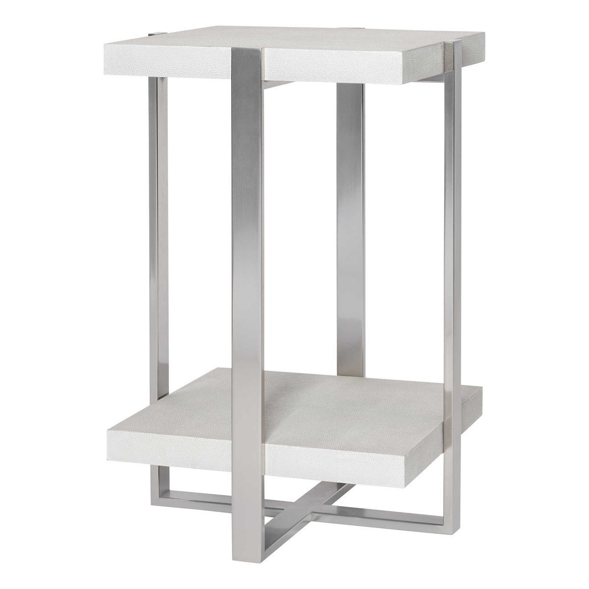 Gray and Silver Accent Table