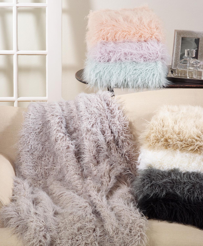 Faux Mongolian Fur Throw-$165.00