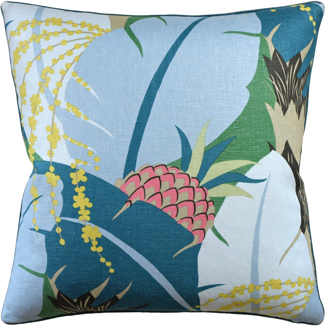 Palm Garden Pillow Peacock-$362.00