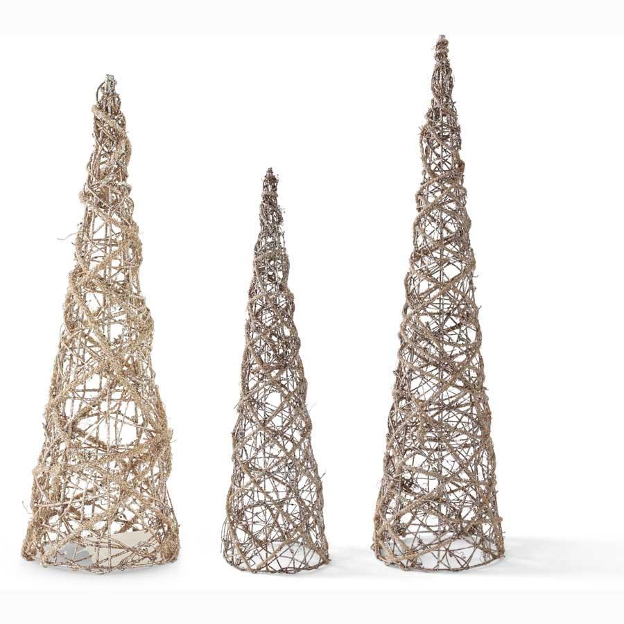 Glitter Cone Trees-$98.00