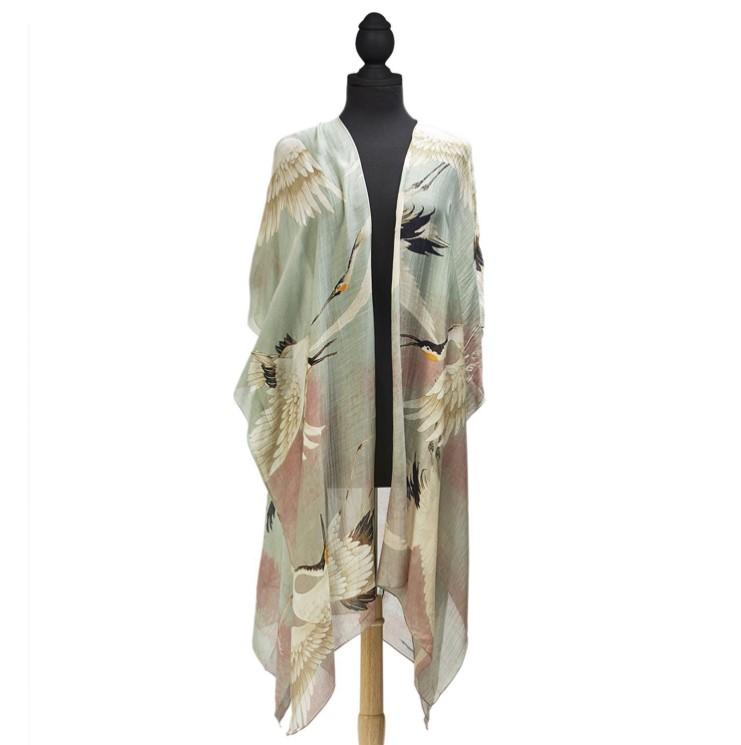 Aqua Heron Kimonos-$112.00
