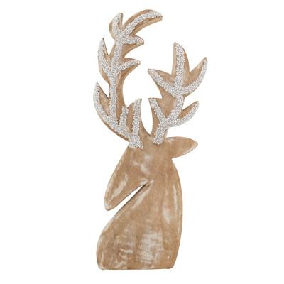 Beaded Wooden Reindeer-$28.00