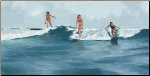 """Surfer Girls""-$925.00"