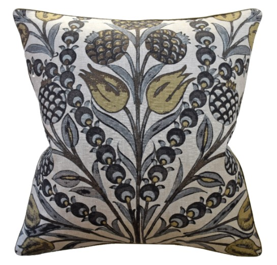 Sara Grey/Gold Pillow-$260.00
