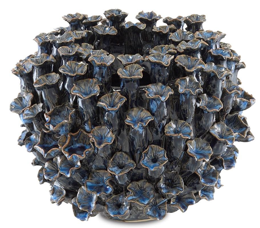 Large Blue Urchins Vase-$398.00