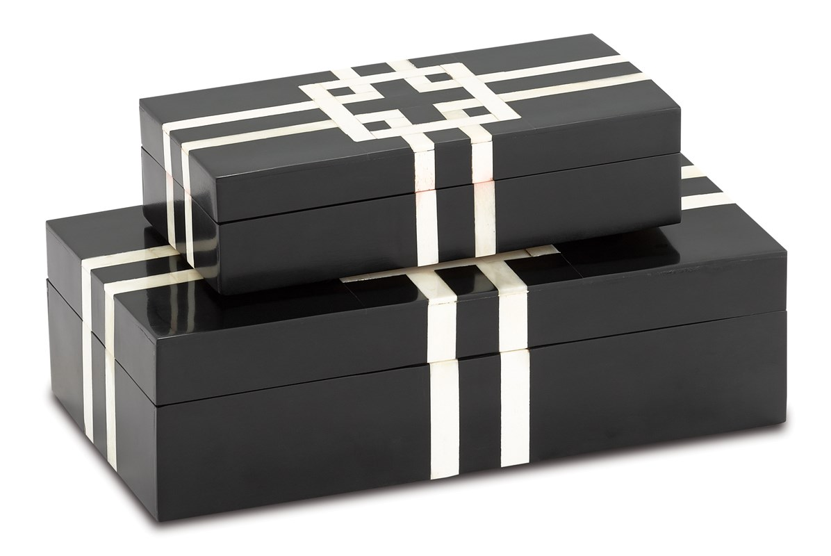 Black and White Lines Boxes-Sm$182.00-Lg$242.00