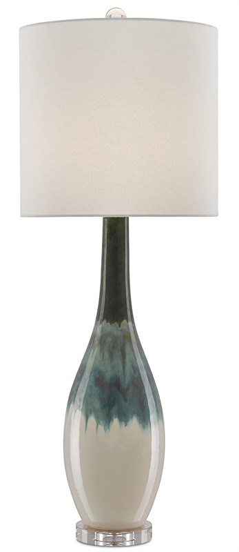 Cream and Turquoise Lamp-$498.00