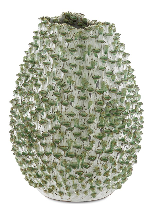 Medium Green Urchins Vase-$468.00