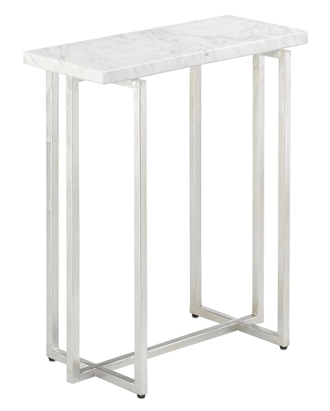 White Marble Accent Table-$898.00