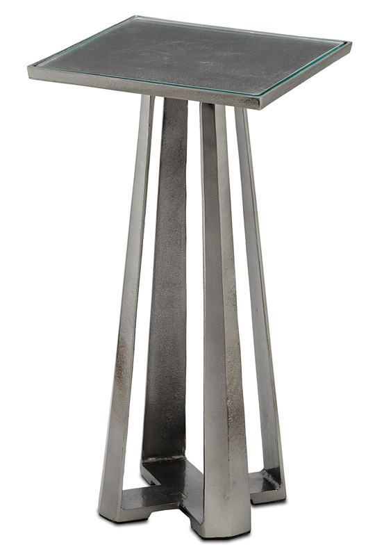 Black Nickle Accent Table-$498.00