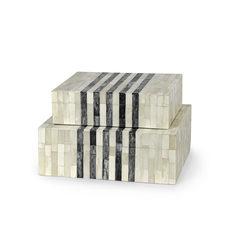 Inlaid Bone Boxes-Sm.$145.00 Lg.$198.00