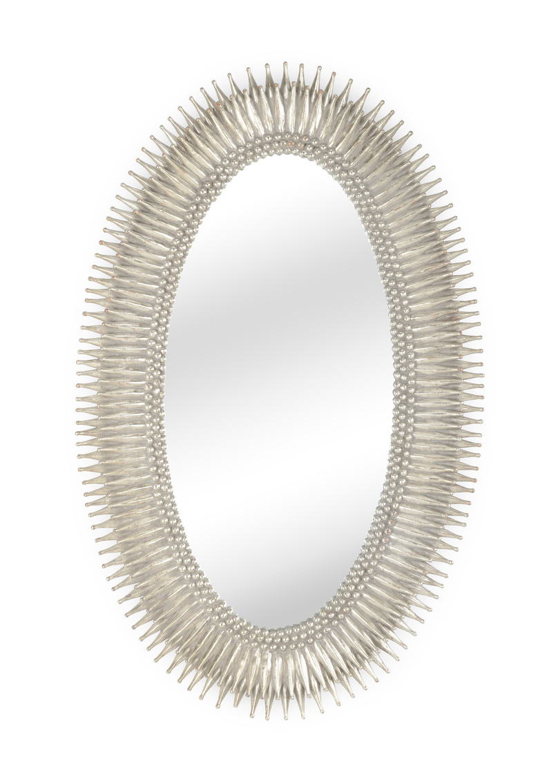 Oval Silver Mirror-$1,398.00