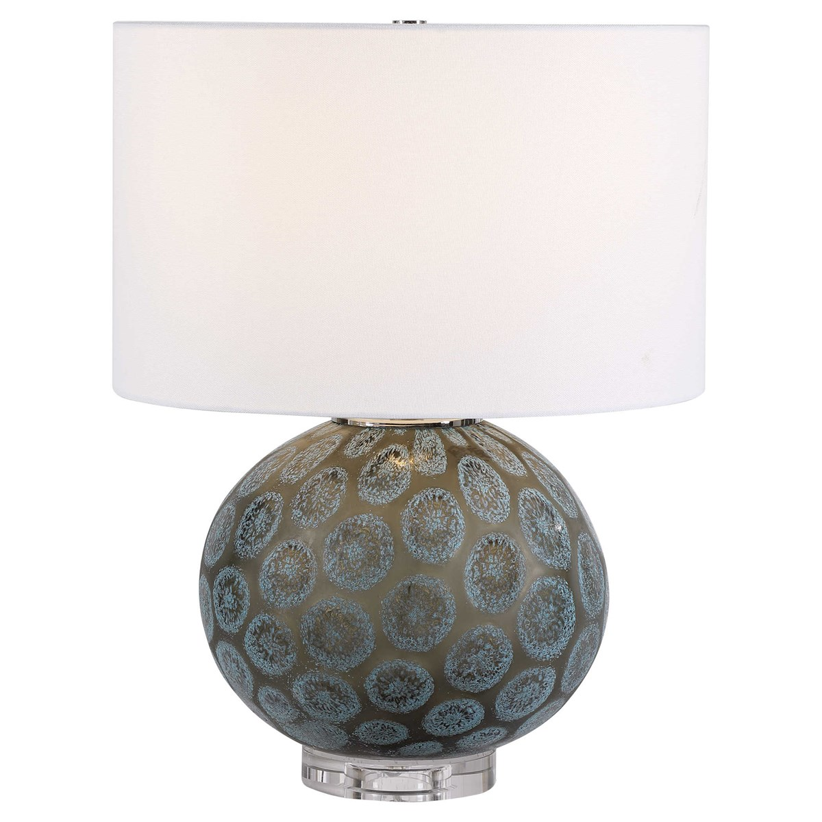 Teal Medallions Lamp-$385.00
