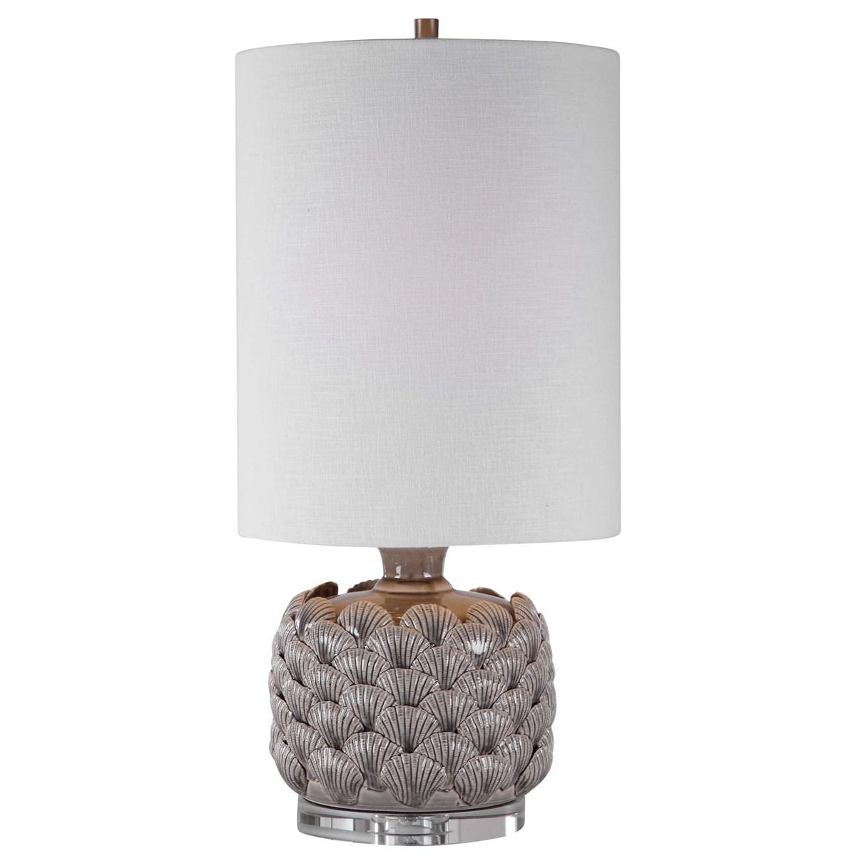Grey Shell Buffet Lamp-$298.00