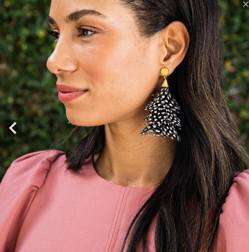 Brackish Feather Earrings-$175.00