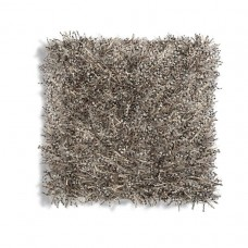 Grey Shaggy Square Pillow-$156.00