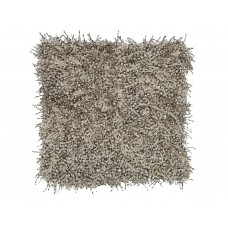 Ivory and Black Shaggy Pillow-$135.00