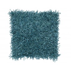 Turquoise Shaggy Pillow-$135.00
