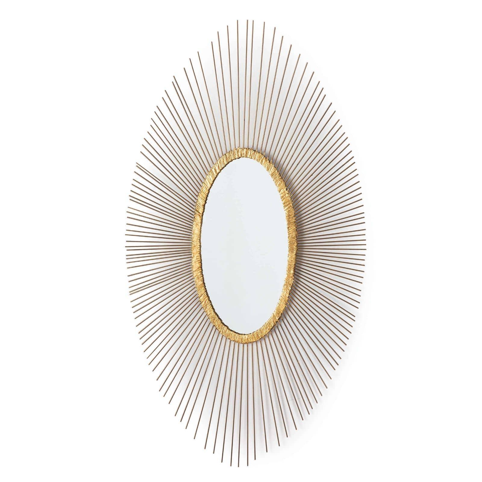 Gold Leaf Oval Mirror-$558.00