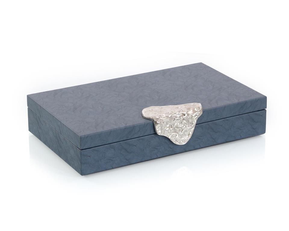 Blue Leather Box-$195.00