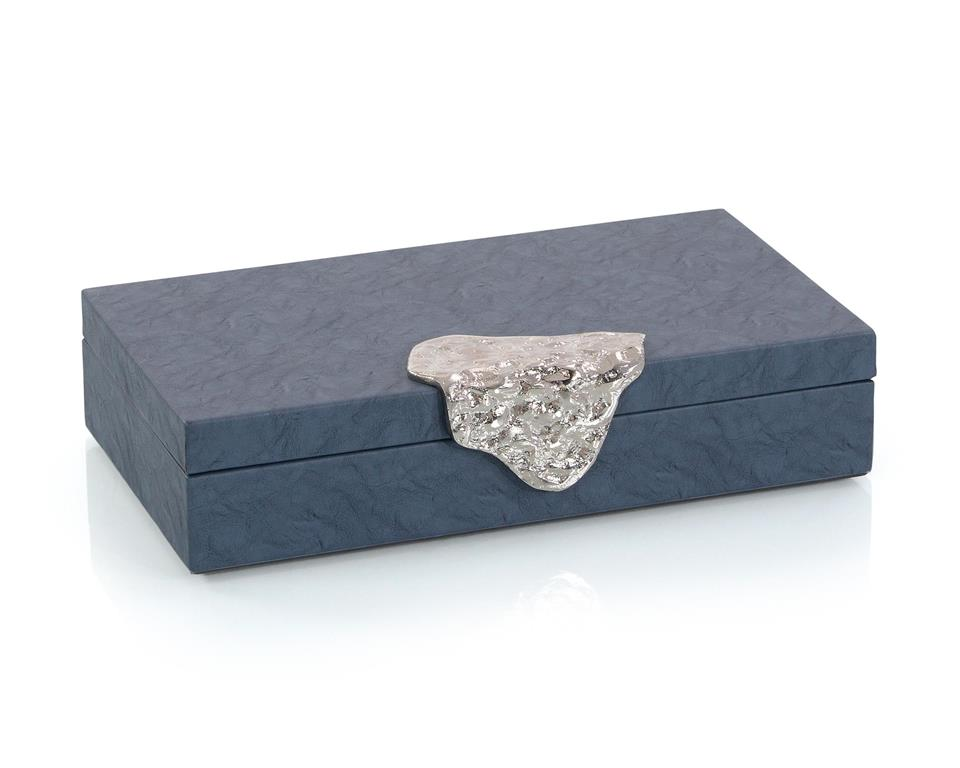 Blue Leather Box-$238.00