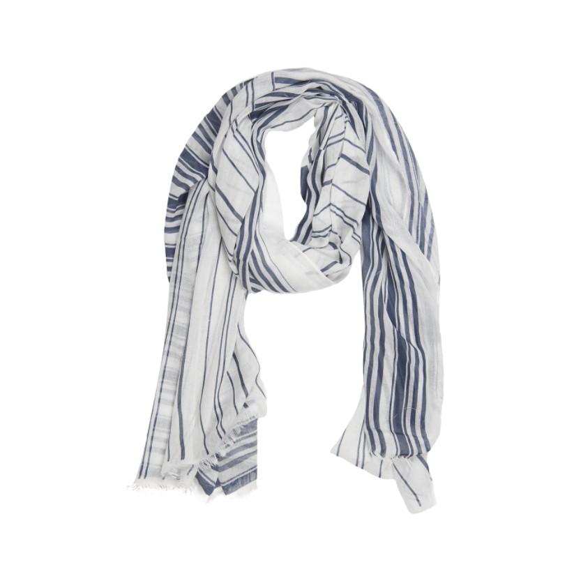 Blue Stripe Medley Scarf-$20.00