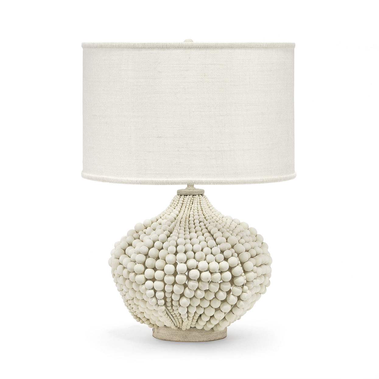 Wood Bead & Abaca Rope Lamp-$1,178.00