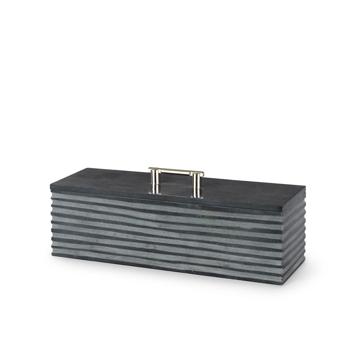 Stacked Soapstone Box, LG-$225.00