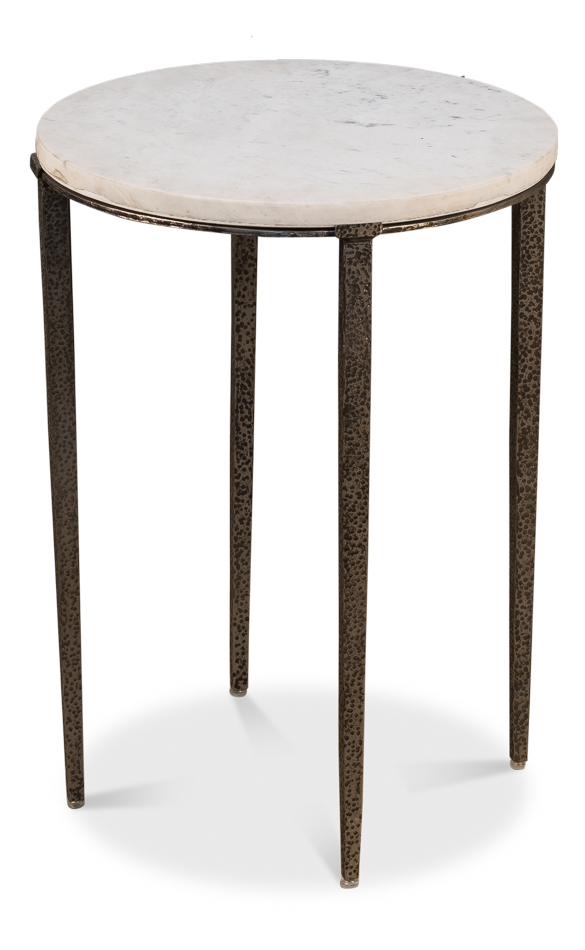 Marble & Iron Side Table-$630.00