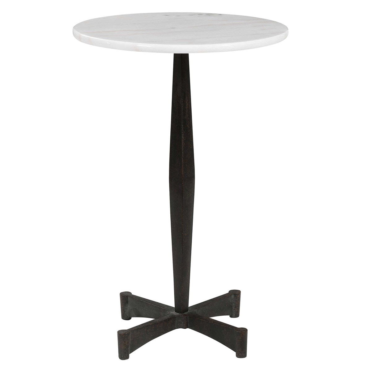 Steel and Marble Side Table-$348.00