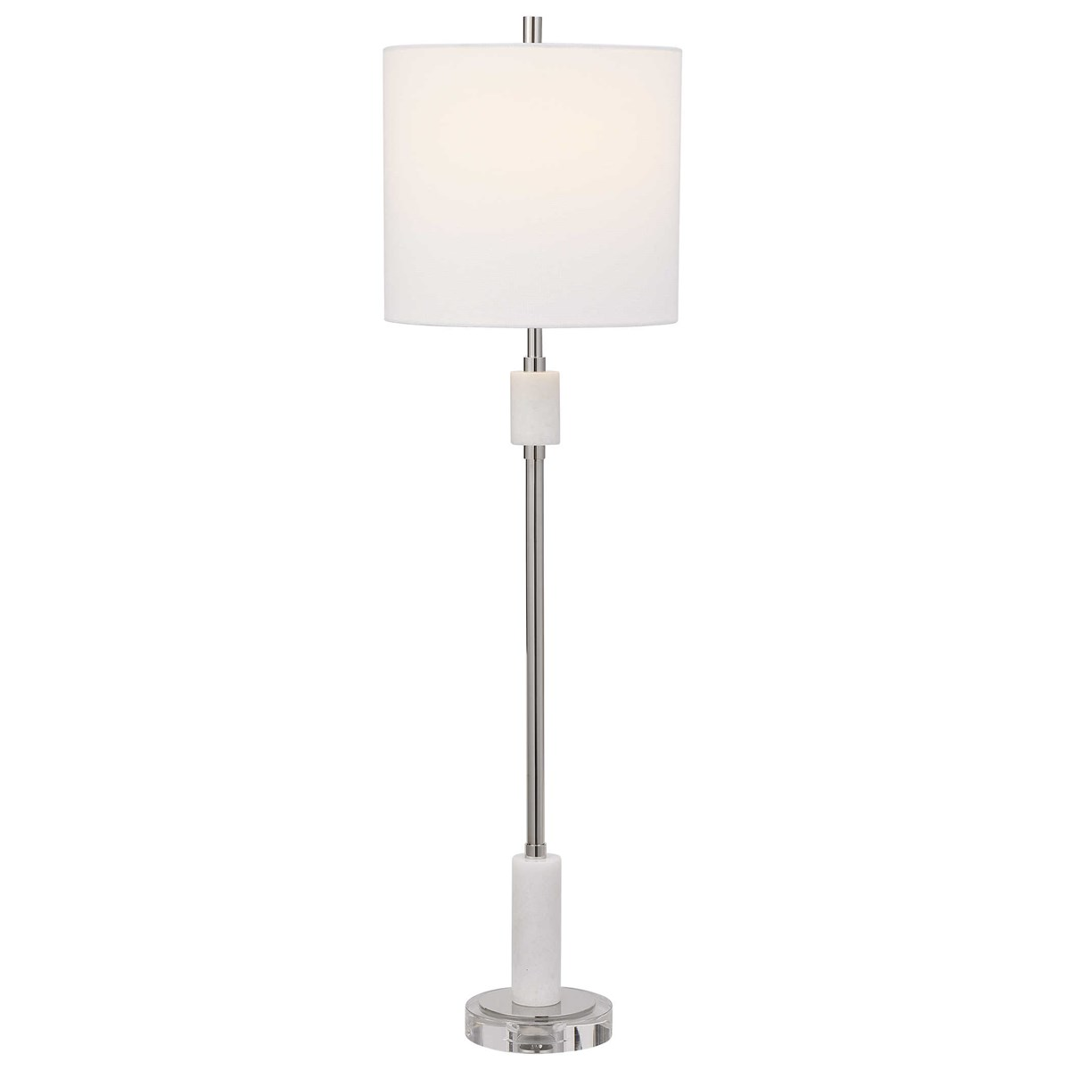 Nickle and Marble Buffet Lamp-$348.00