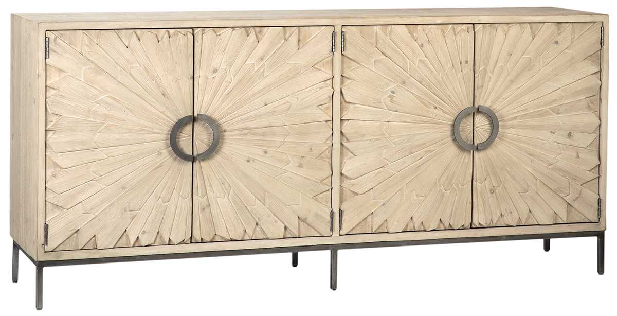 Pine and Iron Sideboard-$2,998.00