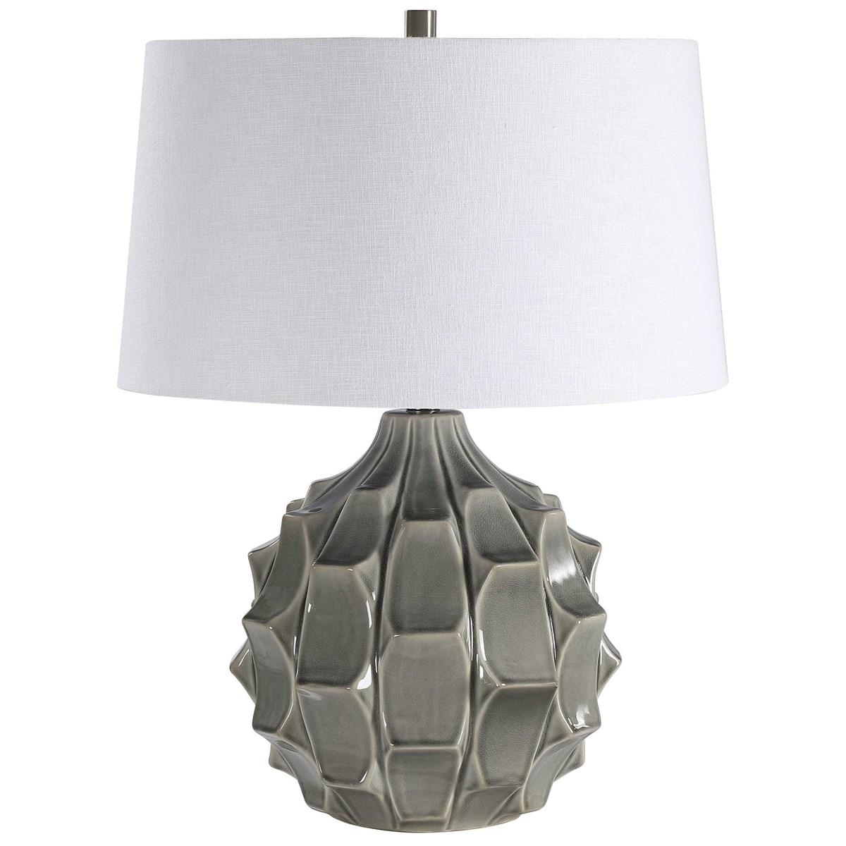 Scalloped Gray Lamp-$389.00