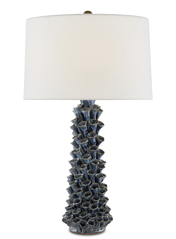 Blue Floral Table Lamp-$695.00